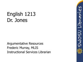 English 1213 Dr. Jones