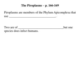 Other Apicomplexa