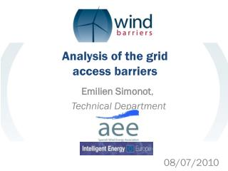 Analysis of the grid access barriers