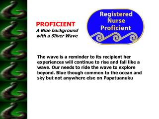 PROFICIENT A Blue background with a Silver Wave