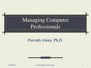 Managing Computer Professionals