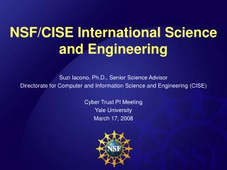 NSF/CISE International Science and Engineering
