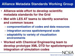 Alliance Metadata Standards Working Group