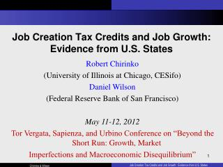 Job Creation Tax Credits and Job Growth:   Evidence from U.S. States