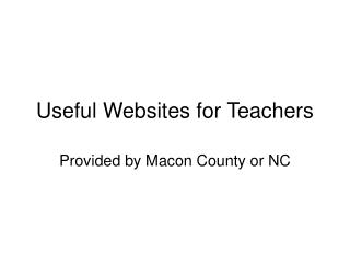Useful Websites for Teachers