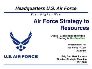 Air Force Strategy to Resources