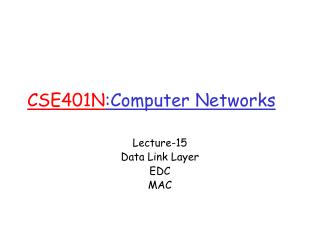 CSE401N :Computer Networks