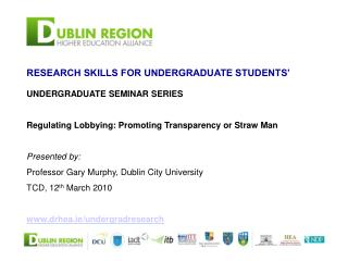 RESEARCH SKILLS FOR UNDERGRADUATE STUDENTS'