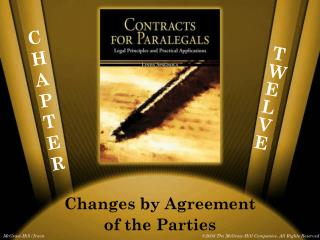 Changes by Agreement of the Parties