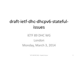 draft-ietf-dhc-dhcpv6-stateful-issues