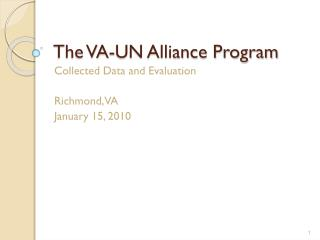 The VA-UN Alliance Program