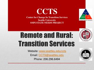 Remote and Rural: Transition Services