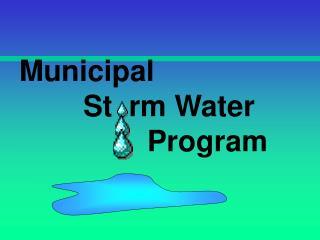 Municipal 		St  rm Water  				Program