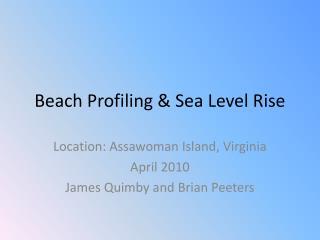 Beach Profiling & Sea Level Rise