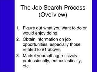 The Job Search Process (Overview)