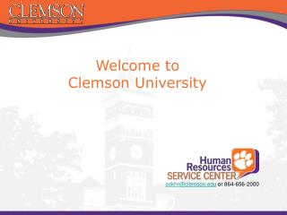 Welcome to  Clemson University