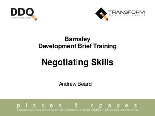 Barnsley Development Brief Training Negotiating Skills