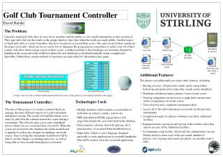 Golf Club Tournament Controller