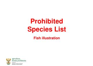 Prohibited Species  List Fish  illustration