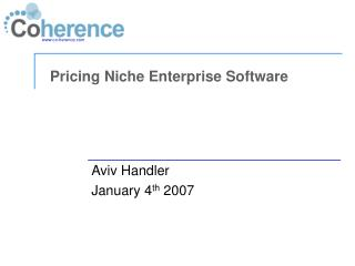 Pricing Niche Enterprise Software