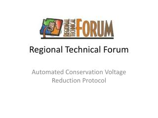 Regional Technical Forum