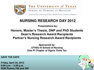 NURSING RESEARCH DAY 2012