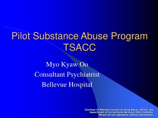 Pilot Substance Abuse Program TSACC