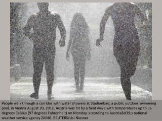 Late summer heat wave hits Europe