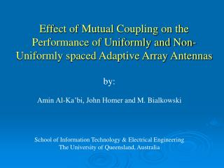 Effect of Mutual Coupling on the  Performance of Uniformly and Non-
