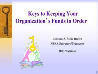 Treasurers Webinar March 1 2013 2