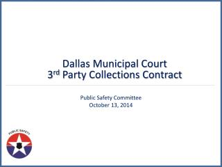 Public Safety Committee  October 13, 2014