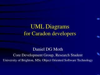 UML Diagrams for Caradon developers