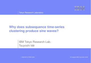 Why does subsequence time-series clustering produce sine waves?
