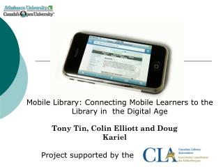 Tony Tin, Colin Elliott and Doug Kariel  Project supported by the