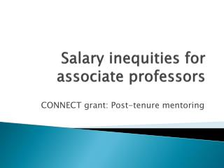 Salary inequities for associate professors