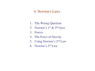 4. Newton's Laws