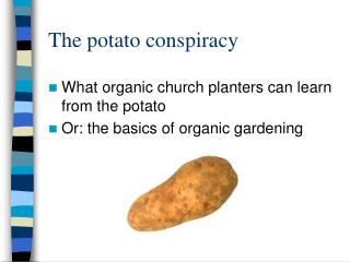 The potato conspiracy