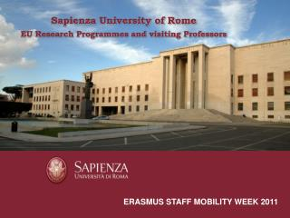 Sapienza University of Rome a short presentation