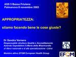 ASS 5 Bassa Friulana Palmanova 8 novembre 2003