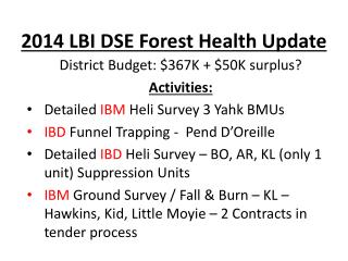 2014 LBI DSE Forest Health Update