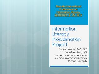 Information Literacy Proclamation Project