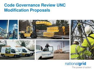 Code Governance Review UNC Modification Proposals