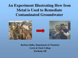 An Experiment Illustrating How Iron Metal is Used to Remediate Contaminated Groundwater