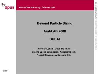 Beyond Particle Sizing ArabLAB 2008 DUBAI
