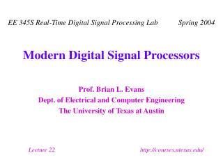 Modern Digital Signal Processors