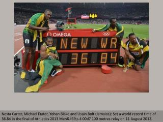 World records at London Olympics
