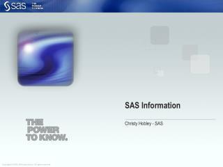 SAS Information