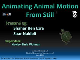 Animating Animal Motion From Still