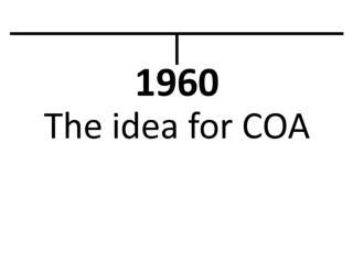 COA Timeline
