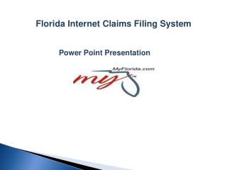 Florida Internet Claims Filing System